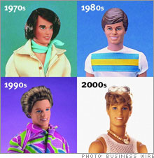 ken over the decades barbie and ken evolution of ken's style